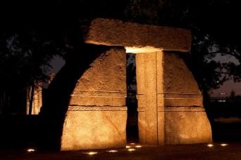 Sarsen Caer at night (photo Irwin Thompson)