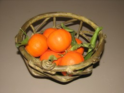 bowl with tangerines