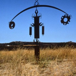 Large kinetic totem (approx 8' h)